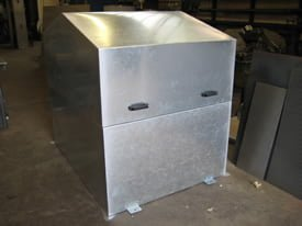 Galvanised steel machine guard