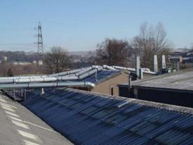 Ducting extraction system over the roof